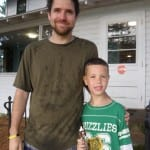 Counselor David O. and new camper Tanner H.