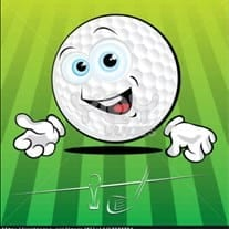 Nice try Mr. Golf Ball, but Alejandro has better dimples!