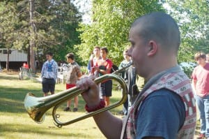 A real bugler instead of an MP3 player.