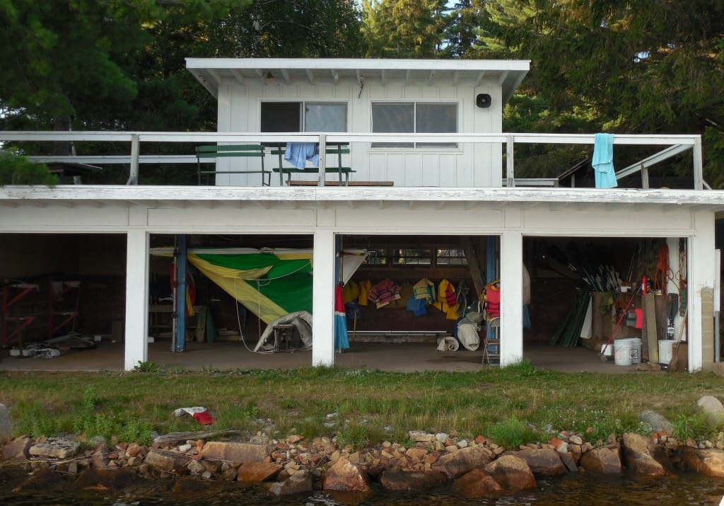 The TP Boathouse looks out over Lake Nokomis so that the staff can watch the campers.
