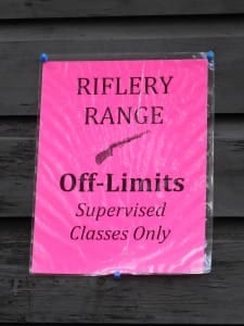 Safety is top priority at the TP Rifle Range.