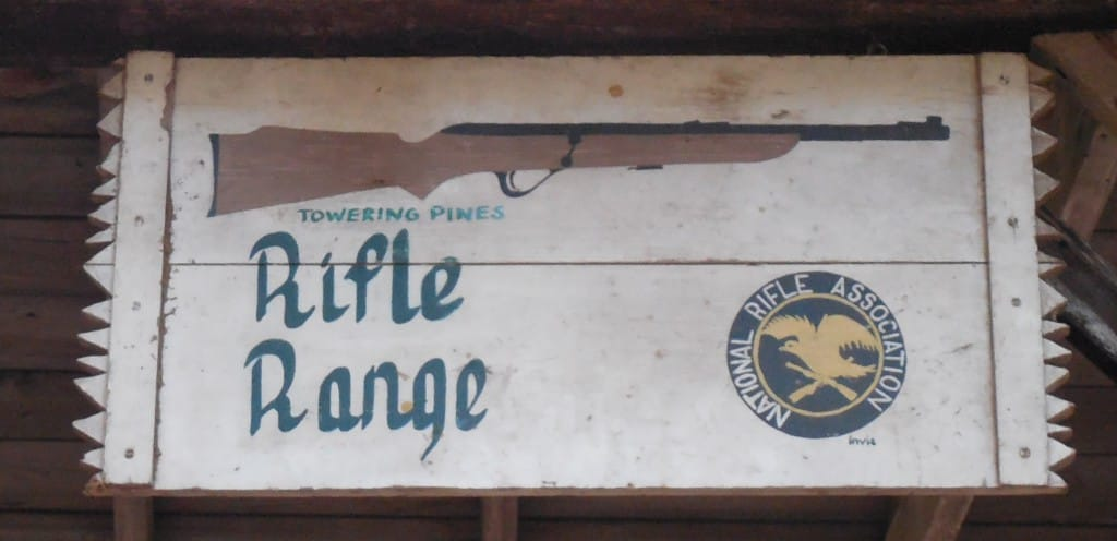 Riflery is one of the most popular activities at Towering Pines.
