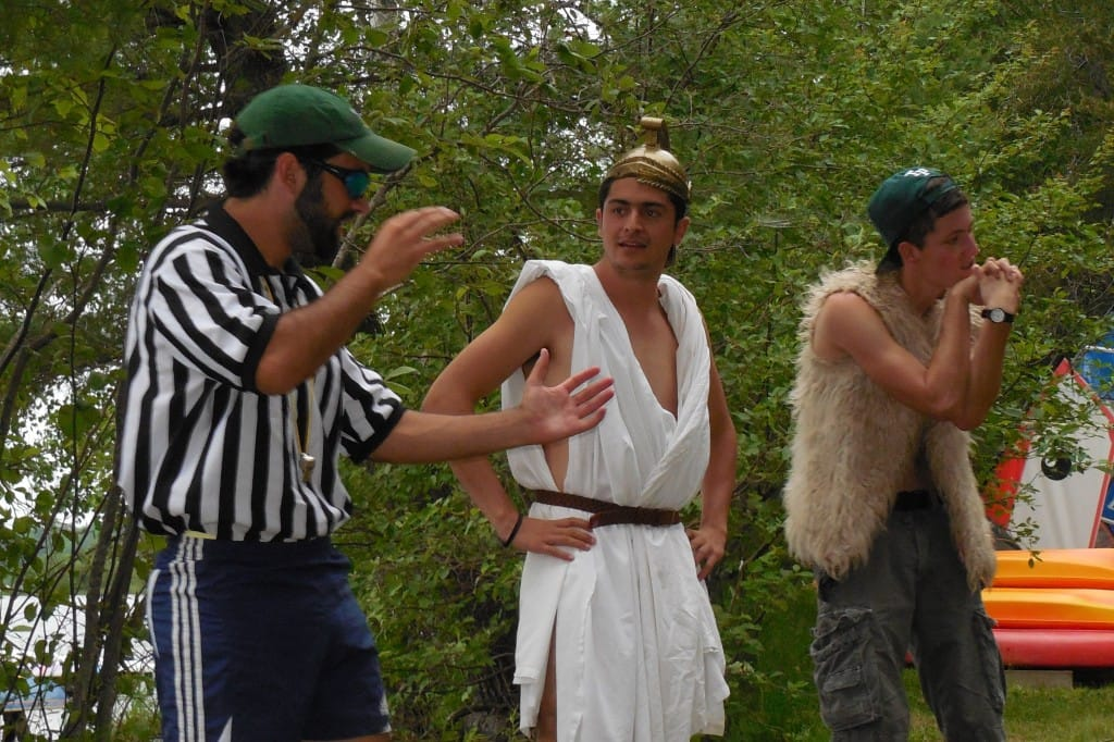 The Ref, The Trojan, and Feghazi - formerly shy TP campers, now leading our campfires.